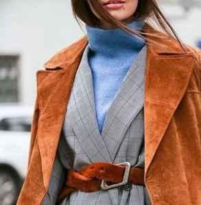 毛衣大衣搭配 双重保暖双重气场