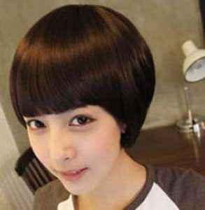 女生锅盖头发型 减龄可爱魅力难挡