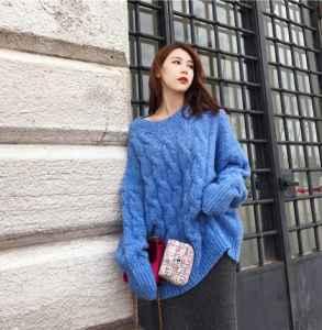 蓝色毛衣怎么搭配 这五款搭配还不快学起来