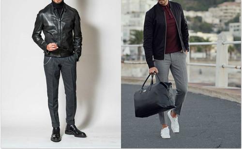 灰色西装裤搭配什么上衣 不会穿牢记小灰配小蓝