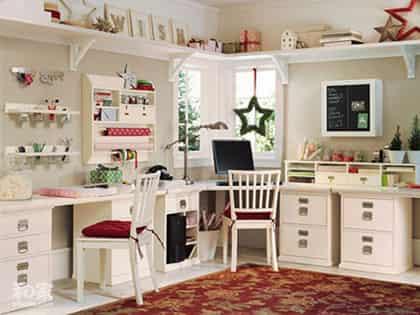 简欧书房装修设计_2012书房装修设计效果图 时尚高雅装潢