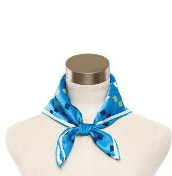 小方丝巾的系法图解 水手结的打法图片