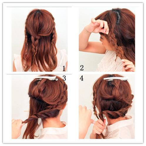 韩式编发发型大全手法 纯美时尚韩式编发发型 让你高贵又不失甜美
