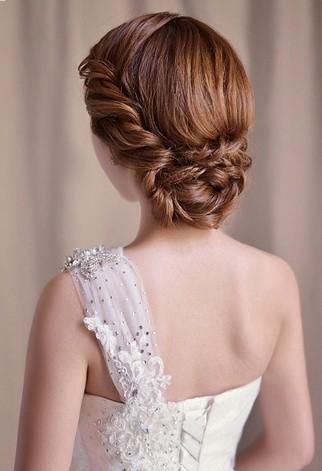 [韩式新娘发型简单大方]最新韩式新娘发型设计图片 简单盘发显优雅气质
