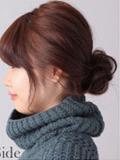 韩式低位花苞头盘发图解 最温婉中长发发型扎法