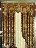 金色欧式窗帘效果图大全 打造奢华古典宫廷式家居