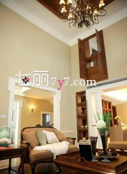 别墅客厅装修效果图 最新整体别墅装修效果图 大自然原木风设计居住更舒适