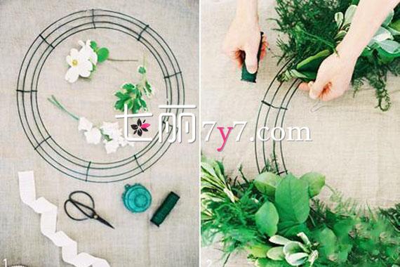 diy手工制作小饰品 手工制作:DIY浪漫婚礼花环教程步骤