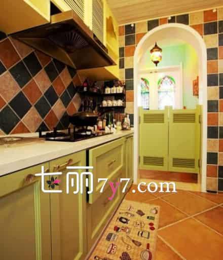地中海风格厨房效果图|地中海风格厨房设计参考 提升女人下厨魅力