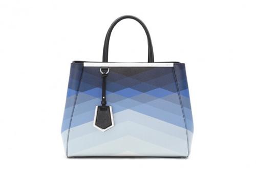 我希望在你的fendi(芬迪)里|Fendi芬迪2014春夏新款包包 几何图案奢华皮草装饰抢眼