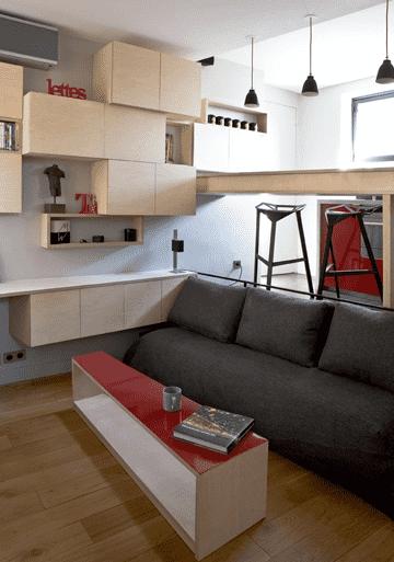 单身公寓小户型装修效果图_单身公寓装修效果图 收纳隔断技巧有高招