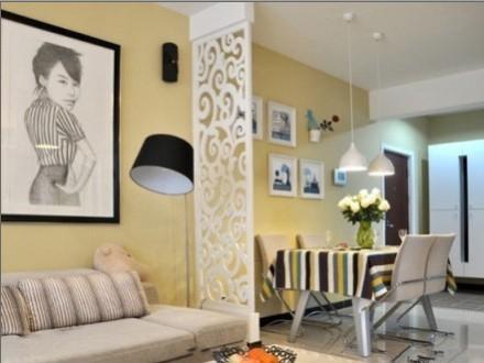 小户型卧室与客厅隔断装修效果图|小户型装修客厅隔断设计图 灵活运用让空间更加延伸