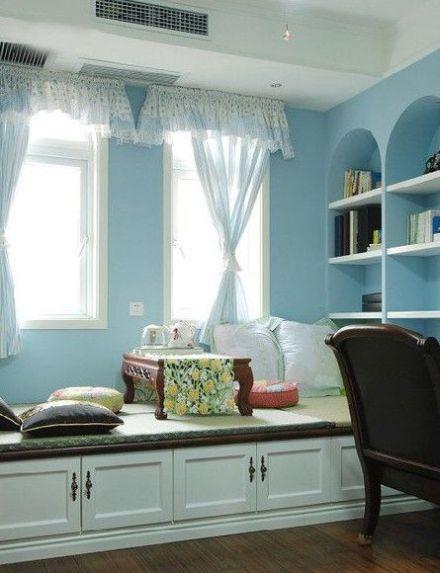 现代化卧室飘窗设计图|现代化卧室飘窗设计 多一点清雅少一分累赘