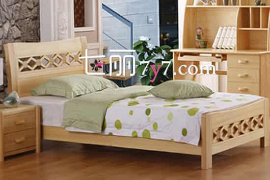 【单身公寓装修效果图】单身公寓必备1.2米木质单人床 小身材省空间