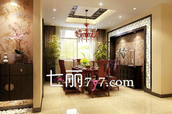 餐厅墙装修效果图欣赏_餐厅装修效果图 新中式风格最具文化感