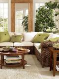 小户型客厅装修效果图 田园风格回归自然小清新