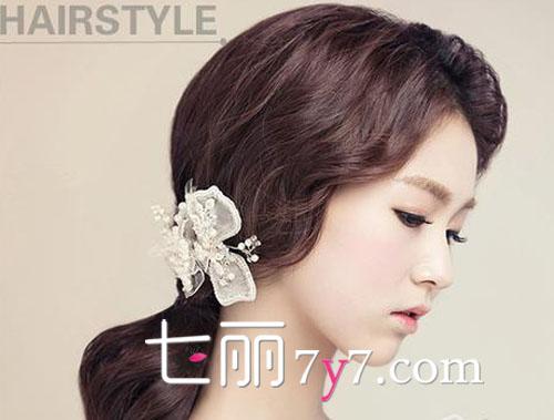 2015最美韩式新娘发饰发型 韩范LOOK闪耀婚礼图片