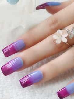 春季流行变色指甲图片 玩转指尖炫丽色彩