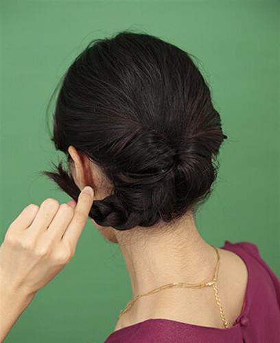 中年盘发教程图解,女士盘发步骤图片,中年盘发发型图片步骤 七丽女图片