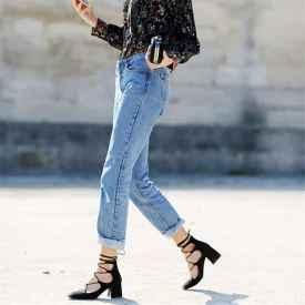 直筒牛仔裤这么穿   显瘦又时髦