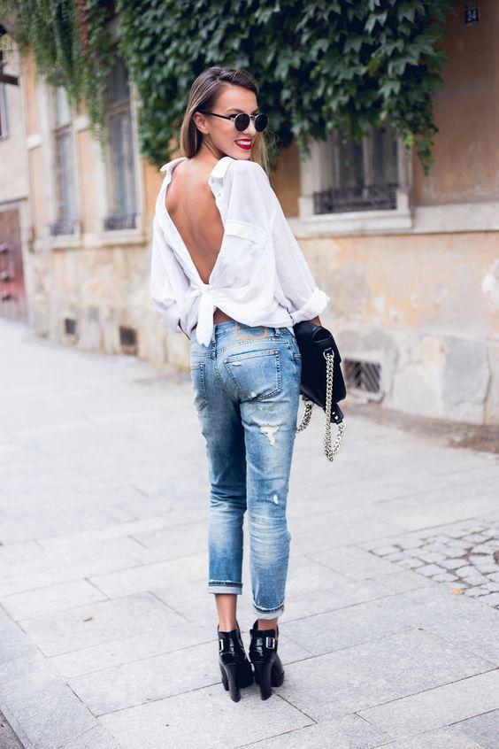 女性白衬衫的穿法,怎么穿才好看