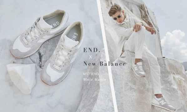 "END. 联合New Balance""White Marble"" 球鞋"