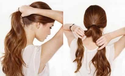 花苞头的扎法图解视频 低花苞头的扎法图解 超长头发也可以轻松盘起来