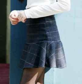 冬季短裙搭配图片大全 拒绝秋冬矮胖臃肿