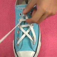 鞋带五角星的系法图解 不懂就照着做吧10538-鞋带的系法图解,系鞋图片
