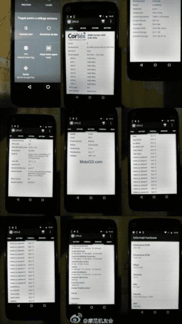 Moto G5 Plus曝光 内置高通骁龙652处理器