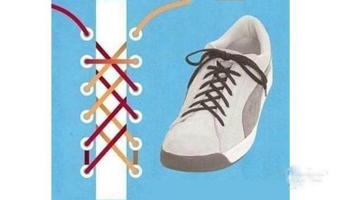板鞋鞋带系法图解