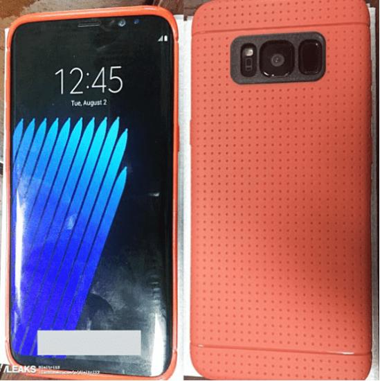 三星Galaxy S8谍照曝光  超窄边框显示屏