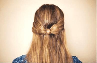 蝴蝶结发型扎法 1分钟快速完成!