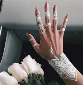 海娜纹身图片 从简单到复杂的13种海娜纹身图案