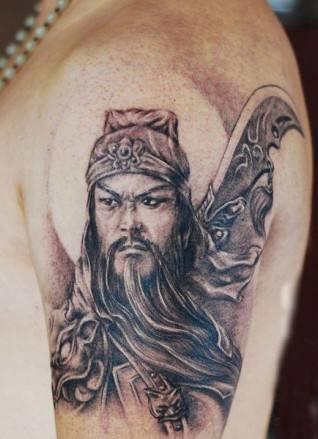 关公纹身手稿,关公纹身图片,关公纹身图案 第1页图片