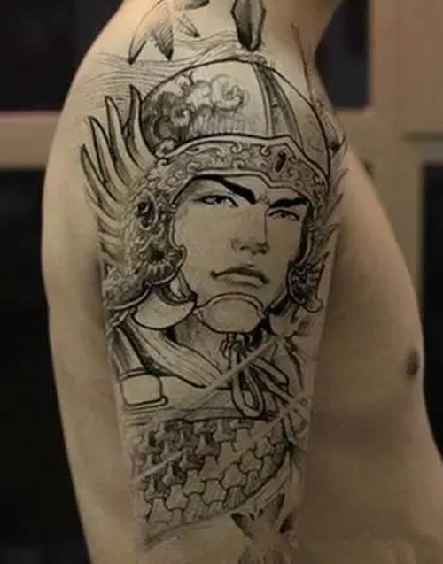 赵子龙纹身手稿,赵子龙纹身图案,赵子龙纹身手稿图 第2页