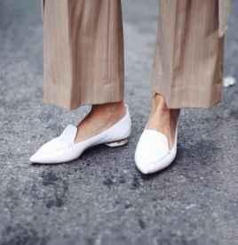 尖头平底鞋搭配图片 兼顾你的时髦和舒适