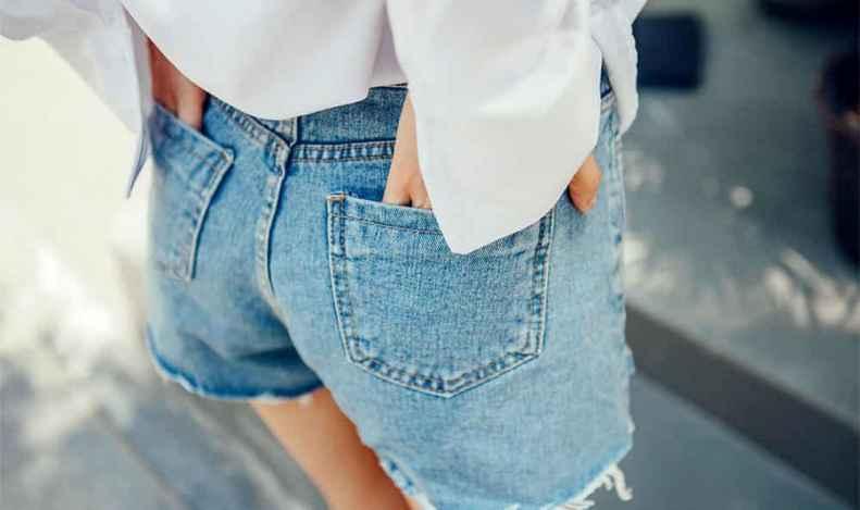 衬衫配牛仔短裤 打造完美美腿杀