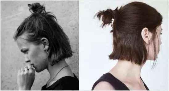 丸子头短发发型图片 显脸瘦的短发推荐