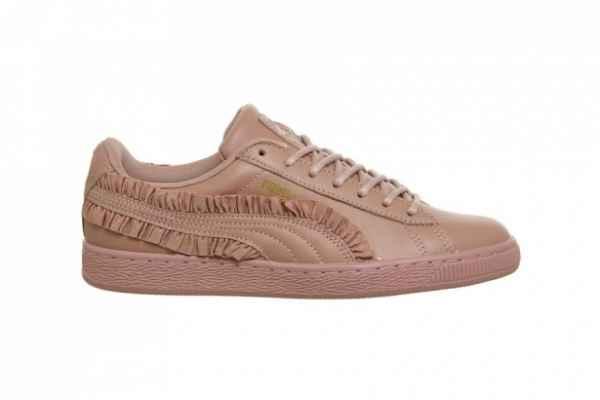 Puma柔美释出Basket Frills鞋款