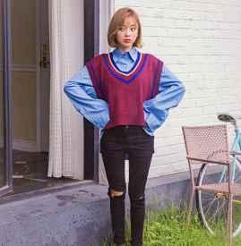 韩版秋装搭配图片 尽显甜美少女风