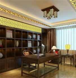 中式书房吊顶效果图 中式书房吊顶设计原则