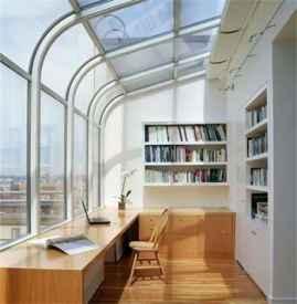 书房阳台装修效果图片 阳台改书房要注意什么