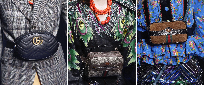 Gucci腰包图片,一身好的造型怎么能少得了包包配饰的点缀?今年不入手一个腰包来凹造型就out了,无论是女星的机场照还是麻豆的街拍,我们都能看到个性腰包的身影,赚足镜头。赶紧备上这件迅速蹿红的Gucci腰包来耍酷吧!