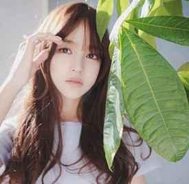 女生空气刘海发型图片 绝对秒变小清新!