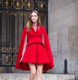 红色衣服衬肤色吗 这样穿谁还不是大白皮呢