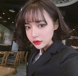 2017空气刘海短发发型 甜美短发值得选择