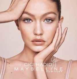 Gigi Hadid与Maybelline合作推出联名彩妆系列