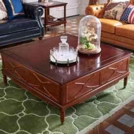实木茶几配什么桌布 这3样桌布为上上之选