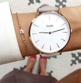 手表搭配手链戴图片 提升气质不止一点点